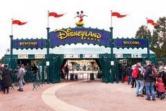 Hoofdingang aan Disneyland Parijs frankrijk europa Stock Afbeelding