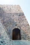 Hoofdingang aan Stari Grad in Ulcinj Stock Foto's