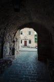 Hoofdingang aan Stari Grad in Ulcinj Stock Afbeeldingen