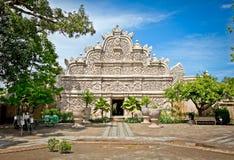 Hoofdingang bij het waterkasteel van Taman Sari - de Koninklijke tuin van sulta Royalty-vrije Stock Afbeeldingen