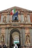 Hoofdingang van de openbare Universiteit van Milaan Stock Foto