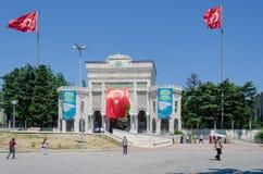 Hoofdingang van de Universiteit van Istanboel in Beyazit, de Stad van Istanboel, Turkije stock fotografie
