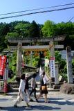 Hoofdingang van Yamadera, Japan stock foto's