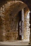 Hoofdingangspoort in Othello Tower in Famagusta, Cyprus royalty-vrije stock afbeeldingen