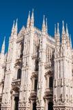 Hoofdkant van Milan Cathedral van de hoek royalty-vrije stock foto's