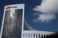 Hoofdkantoor van energieleverancier Eneco, door gemeenten maar aandelen die in de toekomst nog wordt bezeten worden moeten verkoc royalty-vrije stock foto's