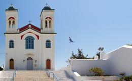 Hoofdkerk van naoussa op het paroseiland Griekenland Royalty-vrije Stock Fotografie