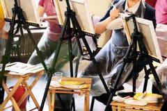 Hoofdklasse bij het schilderen royalty-vrije stock foto's