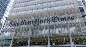 Hoofdkwartier van New York Times, NYC stock foto's