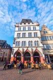 Hoofdmarktvierkant in Trier, Duitsland Stock Afbeelding