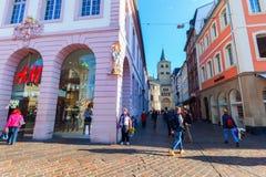Hoofdmarktvierkant in Trier, Duitsland Royalty-vrije Stock Afbeelding