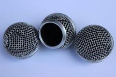 Hoofdmicrofoon drie Stock Foto