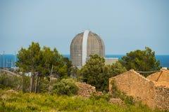 Hoofdreactor van de kernenergieinstallatie in Vandellos, Tarragona, Stock Fotografie