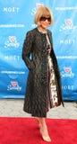 Hoofdredacteur van Amerikaans Vogue Anna Wintour bij het rode tapijt vóór US Open 2013 openingsnacht Stock Foto