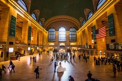Hoofdsamenkomst bij historische Grand Central -Terminal stock foto