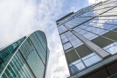 Hoofdstad Moskou en Keizertorens in complexe de Stadszaken van Moskou Stock Foto's