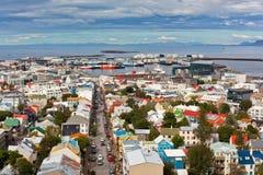 Hoofdstad van IJsland, Reykjavik, mening Royalty-vrije Stock Foto