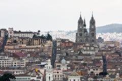 Hoofdstad van Quito Ecuador stock afbeelding