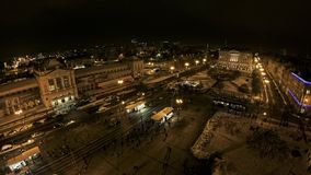 Hoofdstation in het centrum van Zagreb stock video