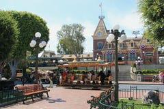 Hoofdstraat de V S A in Disneyland Californië Royalty-vrije Stock Foto's