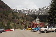 Hoofdstraat Ouray in Colorado Stock Fotografie