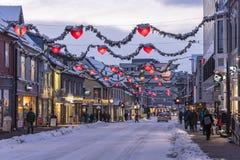 Hoofdstraat Tromsø Noorwegen royalty-vrije stock afbeeldingen