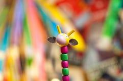Hoofdstuk speelgoed giraf stock afbeeldingen