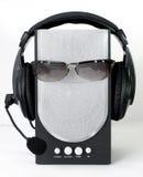Hoofdtelefoon en luidspreker Stock Afbeeldingen
