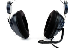 Hoofdtelefoon met microfoon Stock Foto