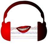 Hoofdtelefoons abstracte muziek stock illustratie