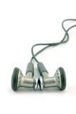 Hoofdtelefoons die op wit worden geïsoleerdj Stock Foto's