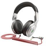 hoofdtelefoons Geïsoleerd op witte 3D Illustratie Royalty-vrije Stock Fotografie