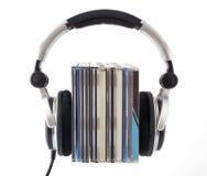 Hoofdtelefoons met CD dozen Royalty-vrije Stock Afbeeldingen