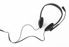 Hoofdtelefoons met een microfoon Royalty-vrije Stock Foto's