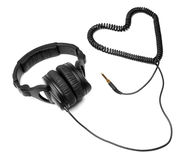 Hoofdtelefoons met hart Royalty-vrije Stock Foto