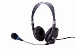 Hoofdtelefoons met microfoon Royalty-vrije Stock Fotografie