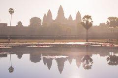 Hoofdtempel van het Angkor-complexe Vat Royalty-vrije Stock Foto's
