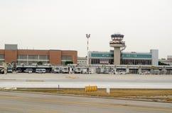 Hoofdterminal, de Luchthaven van Venetië, Italië Stock Foto's