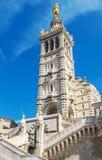 Hoofdtoren, Buitenmening van La Garde, Marseille, Frankrijk van Notre-Dame DE royalty-vrije stock foto's