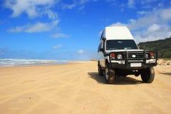Hoofdvervoersweg op Fraser Island stock foto's