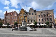 Hoofdvierkant in GrudziÄ… DZ, Polen royalty-vrije stock foto's