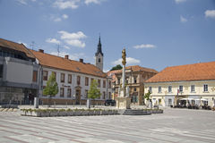 Hoofdvierkant in Ljutomer Slovenië Stock Afbeelding