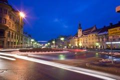 Hoofdvierkant in Maribor, Slovenië Stock Fotografie