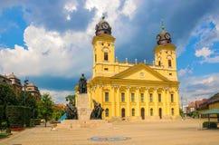 Hoofdvierkant van Debrecen-stad, Hongarije royalty-vrije stock fotografie