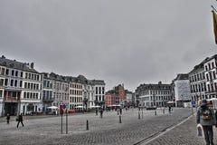 Hoofdvierkant van Mons Royalty-vrije Stock Foto