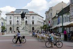 Hoofdvierkant van Szeged, Hongarije stock fotografie