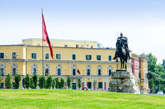 Hoofdvierkant van Tirana Royalty-vrije Stock Fotografie