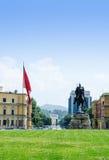 Hoofdvierkant van Tirana Stock Afbeeldingen