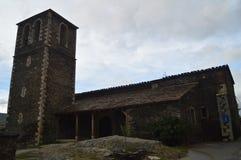 Hoofdvoorgevel van de Parochiale Kerk van Kerstman MarÃa Magdalena Of Slate In Campillo DE Ranas 18 oktober, 2013 Majaelrayo, Pue royalty-vrije stock fotografie