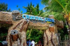 Hoofdvoorzijde van Crystal Cove in Boracay-Eiland stock afbeelding